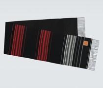 Gestreifter Schal aus Wolle und Kaschmir