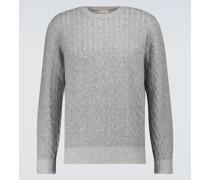 Pullover aus Kaschmir mit Zopfstrickmuster