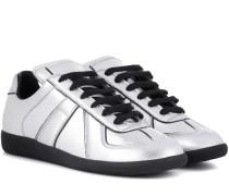 Sneakers Replica aus Metallic-Leder