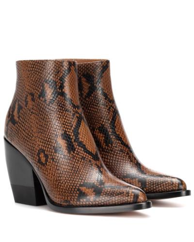 Bedruckte Ankle Boots Rylee aus Leder