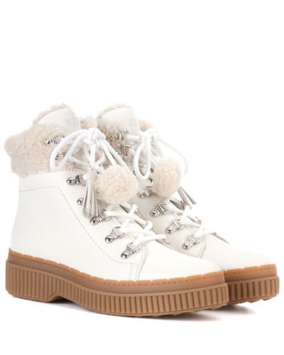 TOD'S Damen Ankle Boots mit Pelz Besuchen Neue Günstig Online Auslass Wahl Verkauf Am Besten Billige Ebay QYjRvAH4eK