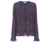 Tweed-Jacke mit Metallic-Garnen