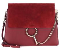 Tasche Faye aus Leder und Veloursleder