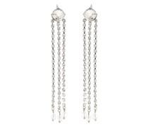 Lange Ohrringe mit Kristallverzierung