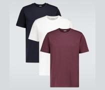 Set aus drei T-Shirts aus Baumwolle