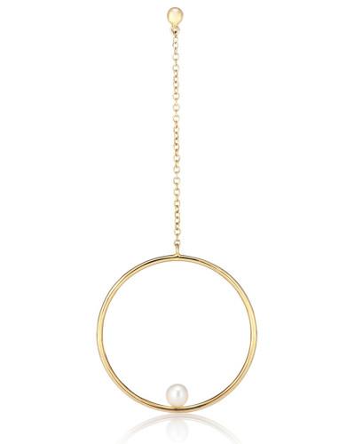 Einzelner Ohrring Rondeur Chain aus 14kt Gelbgold