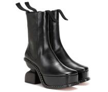 Ankle Boots Platform 100 aus Leder