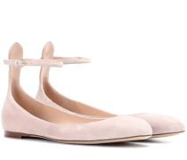 Garavani Ballerinas aus Veloursleder