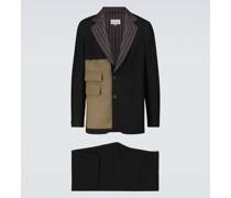 Patchwork-Anzug aus einem Wollgemisch