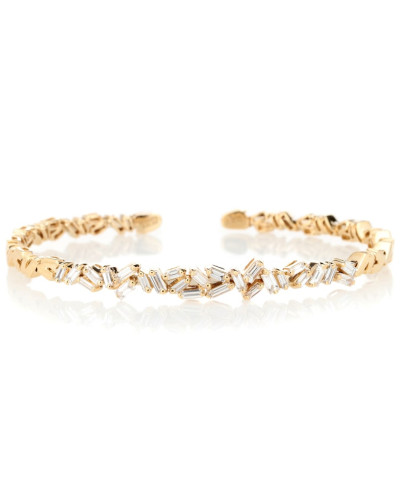 Armreif Zigzag aus 18kt Gelbgold mit Diamanten
