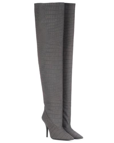 (SEASON 5) Overknee-Stiefel aus Leder