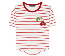 Cropped T-Shirt mit Applikation