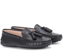 Loafers Gommino aus Leder mit Nieten