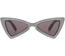 Eckige Sonnenbrille mit Kristallen