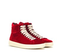 High-Top-Sneakers aus Samt