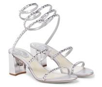 Sandalen Cleo aus Leder mit Kristallen