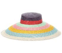 Gestreifter Hut aus Stroh