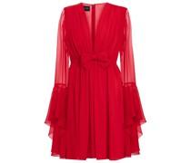 Minikleid aus Seiden-Georgette