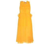 Plissiertes Kleid aus Chiffon
