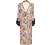 Verzierter Gobelin-Mantel aus einem Baumwollgemisch