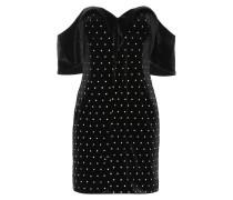 Off-Shoulder-Kleid aus Samt