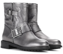 Ankle Boots Youth aus Metallic-Leder