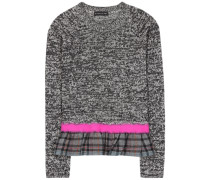 Cotton, wool and cashmere sweater