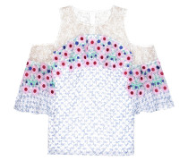Off-Shoulder-Bluse aus Seidengeorgette