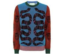 Sweatshirt mit Metallic-Fäden