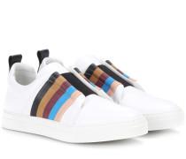 Sneakers Slider aus Leder