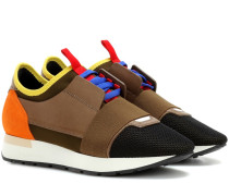 Sneakers Race Runner mit Veloursleder