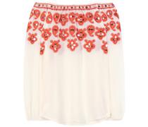 Bestickte Off-Shoulder Bluse Leyla aus Seide