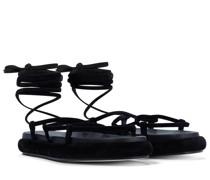 Sandalen Alba aus Veloursleder