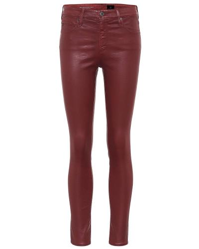 Beschichtete Skinny Jeans Farrah