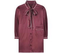 Pyjamabluse aus Stretch-Seide