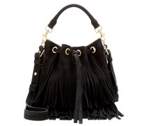 Bucket-Bag Small Emmanuelle aus Veloursleder