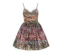 Verziertes Kleid aus Metallic-Spitze