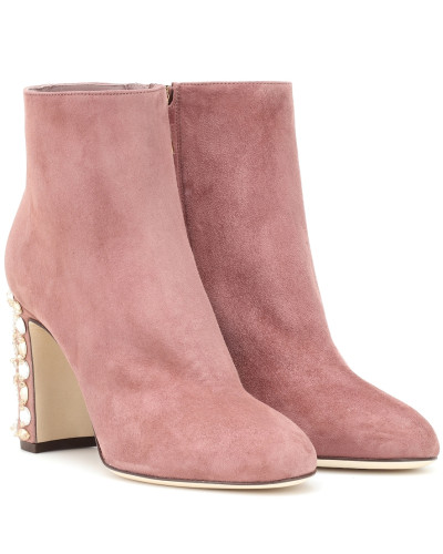 Ankle Boots Vally aus Veloursleder