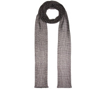 Schal aus Metallic-Häkelstrick