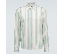 Gestreiftes Hemd aus Seide