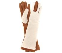 mytheresa.com exklusiv Handschuhe Greta aus Shearling und Veloursleder