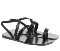 Sandalen Flat Wedge aus Satin