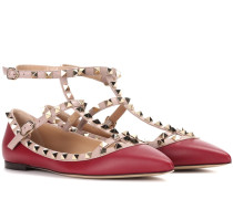 Garavani Rockstud leather ballerinas