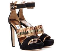 Sandaletten Kathleen 130 aus Veloursleder