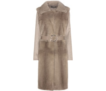 Mantel aus Wolle und Cashmere mit Nerzweste