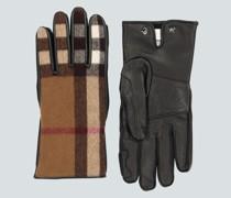 Handschuhe aus Leder und Wolle