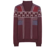 Jacquard-Pullover aus einem Wollgemisch