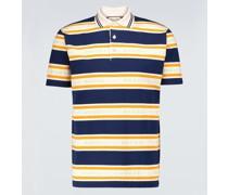 Jacquard striped polo shirt