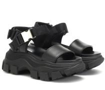 Sandalen Block aus Leder