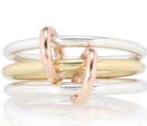 Ring Solarium Silver aus 18kt Gelbgold und 925er Sterlingsilber